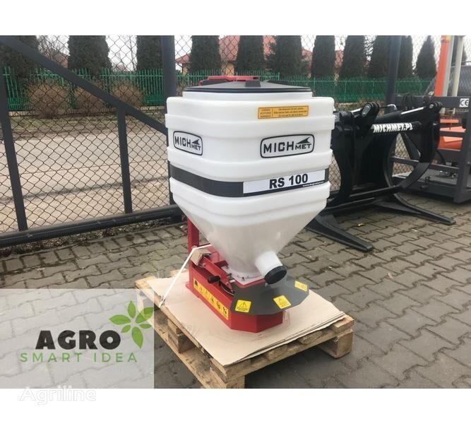 new Michmet Zwischenfruchtstreuer / Streugerät / Rozsiewacz poplonów mounted fertilizer spreader